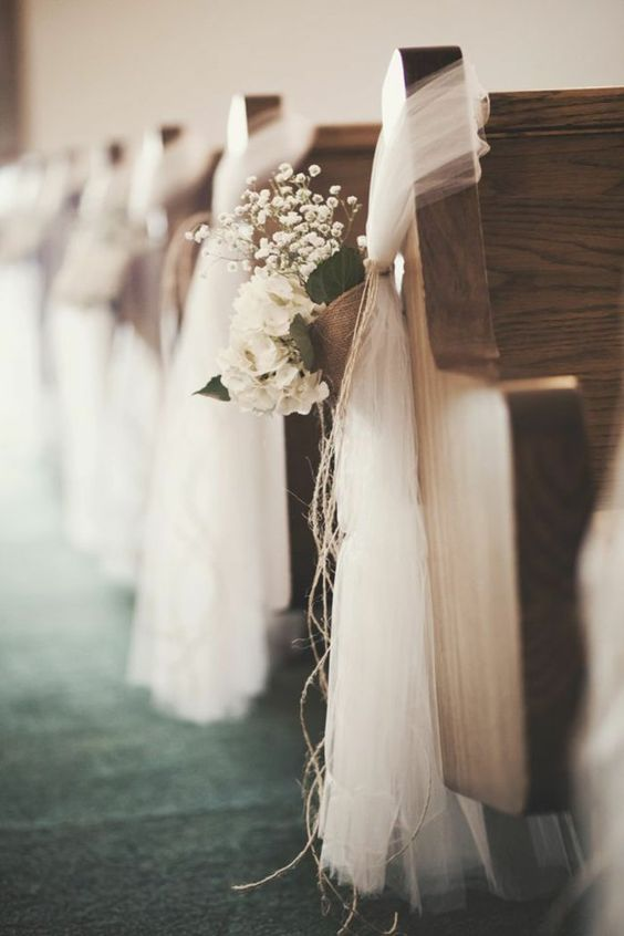 Thème mariage blanc église