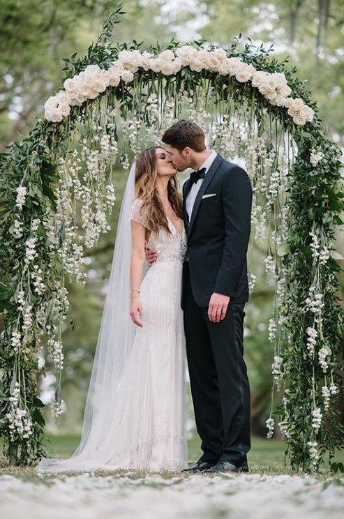 Thème mariage blanc arche