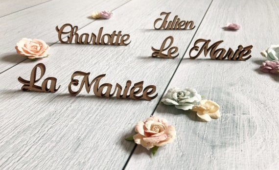 porte nom table mariage champêtre
