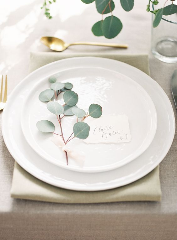 porte nom table mariage minimaliste