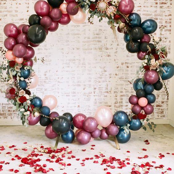 Arche cérémonie laïque ballon mariage fun