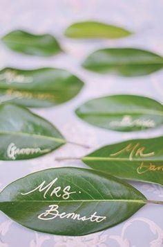 Porte nom table mariage nature