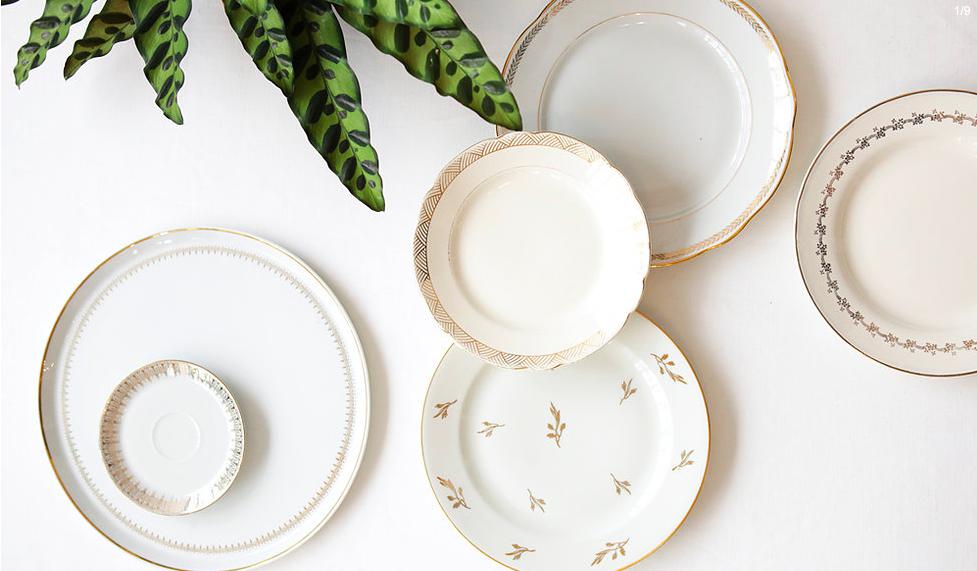 Louer décoration mariage vaisselle vintage